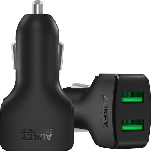 Aukey CC-S3 Car charger Dual USB 4.8A Black Main Image