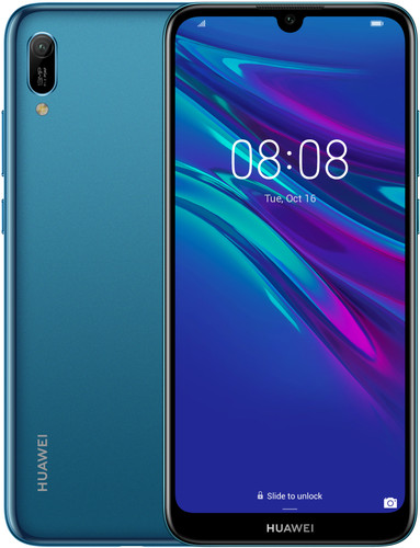 Huawei Y6 (2019) Dual Sim Blauw Main Image