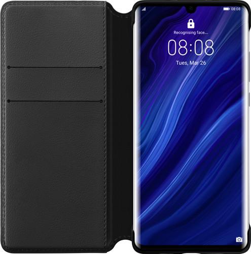 Huawei P30 Pro Flip Cover Book Case Black Main Image