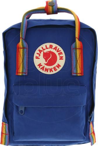 Fjällräven Kånken Rainbow Mini Deep Blue-Rainbow Pattern - Children's Backpack Main Image