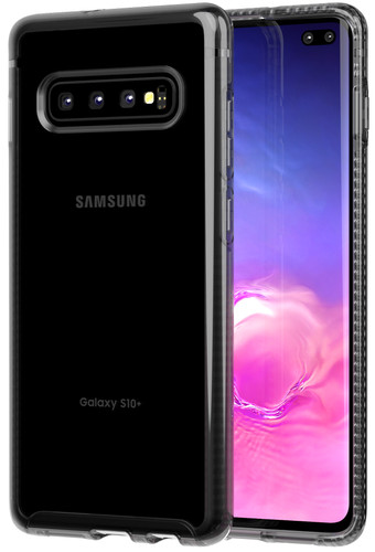 Tech21 Pure Clear Samsung Galaxy S10 Plus Back Cover Black Main Image