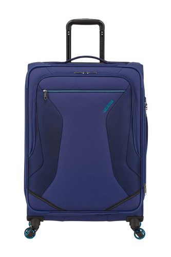 American Tourister Eco Wanderer Expandable Spinner 67cm Navy Main Image