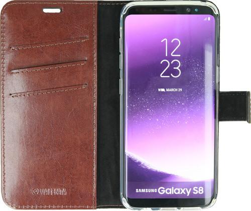 Valenta Booklet Gel Skin Samsung Galaxy S8 Book Case Brown Main Image