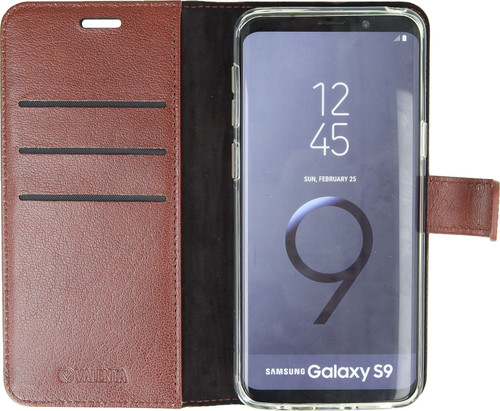 Valenta Booklet Gel Skin Samsung Galaxy S9 Book Case Bruin Main Image