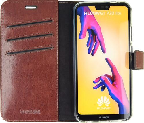 Valenta Booklet Gel Skin Huawei P20 Lite Book Case Brown Main Image