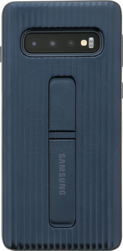 Samsung Galaxy S10 Protect Stand Back Cover Blue Main Image