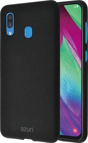 Azuri Flexible Sand Samsung Galaxy A40 Back Cover Black Main Image