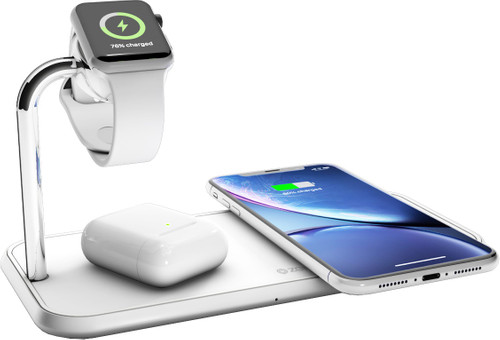 ZENS Dual & Apple Watch Aluminium Draadloze Oplader 10W Wit Main Image