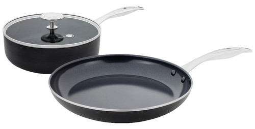 GreenPan Brussels ceramic skillet 24 cm and frying pan 28 cm Main Image