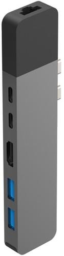 Hyper Usb C naar HDMI, Ethernet en Usb Docking Station Space Grey Main Image