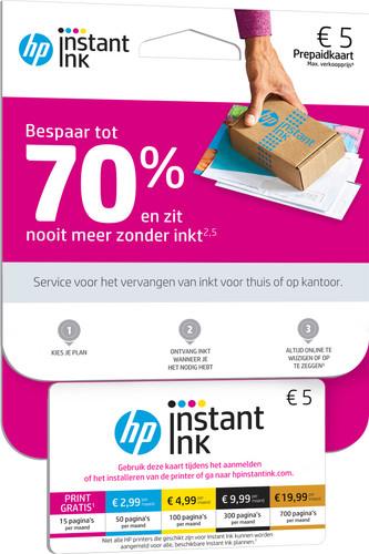 HP Instant Ink prepaid kaart Main Image