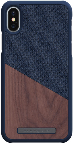 Nordic Elements Frejr Apple iPhone X / Xs Back Cover Blue / Wood Main Image