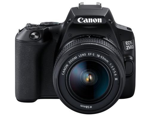 Canon EOS 250D Black + 18-55mm f / 3.5-5.6 DC III + Case + 16GB memory card + cloth Main Image
