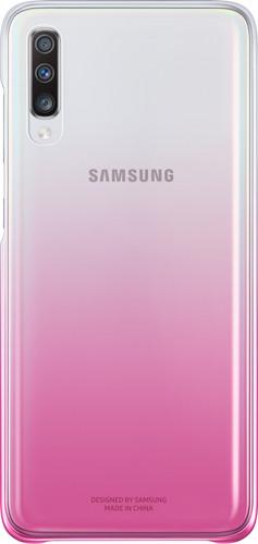 Samsung Galaxy A70 Gradation Back Cover Pink / Transparent Main Image