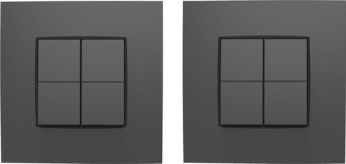 Niko Dimmer switch Hue Intense Gray Duo-Pack Main Image