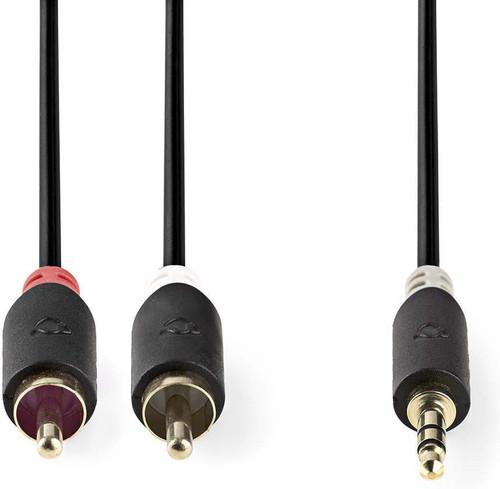 Nedis 3,5 mm naar RCA Kabel 10 Meter Grijs Main Image
