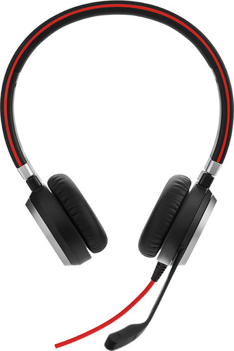 Jabra Evolve 40 MS Stereo Bedrade Usb A Office Headset Main Image