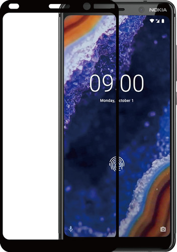 Azuri Tempered Glass Nokia 9 PureView Screen Protector Glass Black Main Image