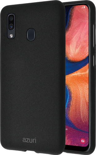 Azuri Flexible Sand Samsung Galaxy A20e Back Cover Black Main Image