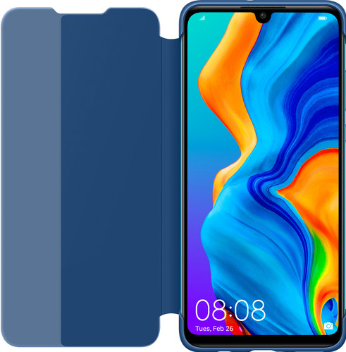 Huawei P30 Lite View Flip Cover Book Case Blue Main Image