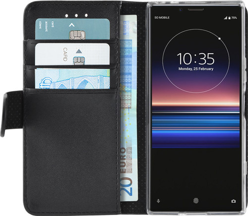 Azuri Wallet Magnet Sony Xperia 1 Book Case Black