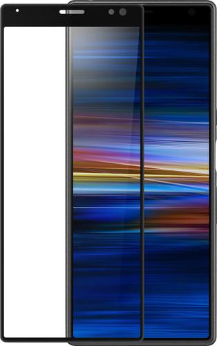 Azuri Curved Gehard Glas Sony Xperia 10 Screenprotector Glas Zwart Main Image