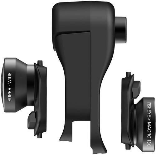 cheaper 5298e aa223 Olloclip Apple iPhone Xr Clip + Fisheye, Macro and Wide Angle Lens Set