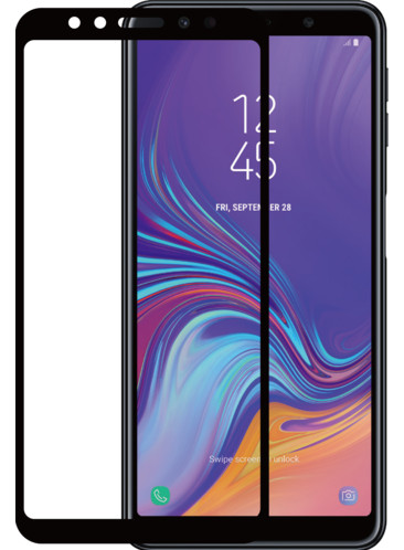 Azuri Gehard Glas Samsung Galaxy A7 (2018) Screenprotector Glas Zwart Main Image