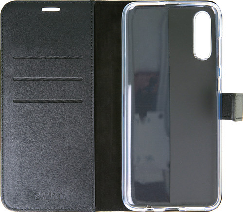 Valenta Booklet Gel Skin Samsung Galaxy A70 Black Leather Main Image