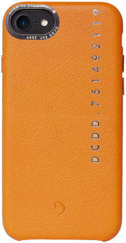 Decoded Leather Apple iPhone 6/6s/7/8 Back Cover Oranje Main Image