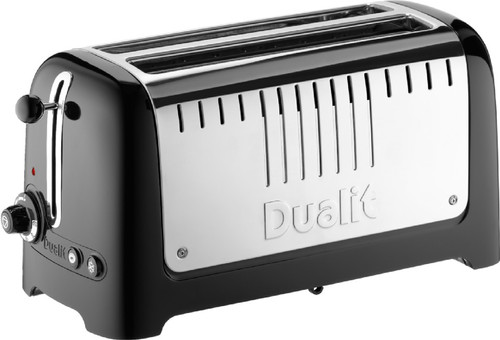 Dualit Lite Gloss 2 Slot Long Black Main Image