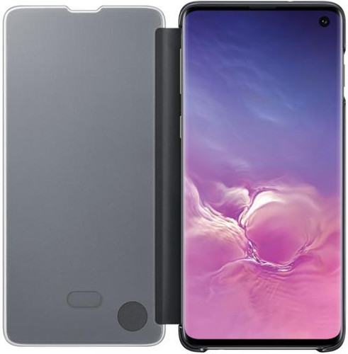 Samsung Galaxy S10 Clear View Cover Book Case Black Main Image