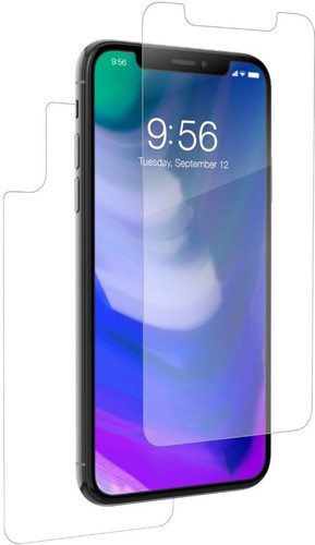 timeless design b0433 57d6d InvisibleShield HD Dry Full Body Apple iPhone X/Xs Screen Protector Front +  Rear Plastic
