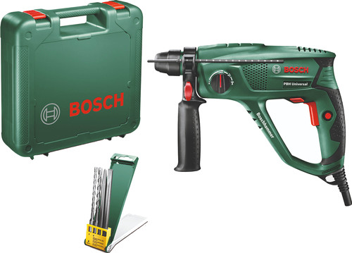 Bosch PBH 2100 Universal + 4-piece SDS-Plus drill and chisel set Main Image