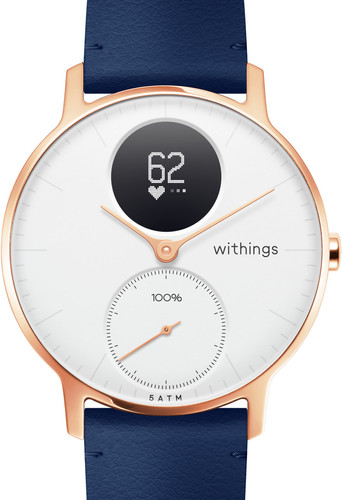 Withings Steel HR (36mm) Rose Gold Blue Leather Main Image