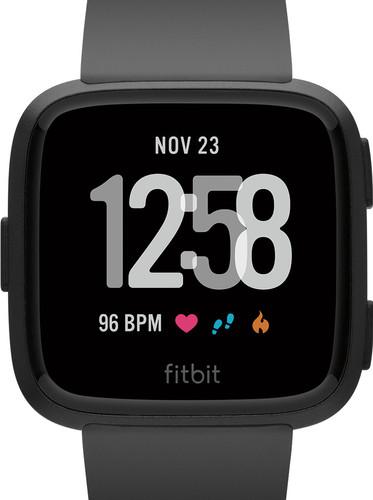 Fitbit Versa Black/Black Aluminum Main Image