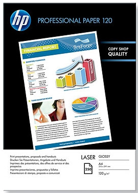 HP Professional Glossy Laser Papier 250 Vel A4 (120 g/m2) Main Image