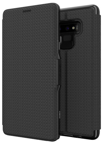 GEAR4 D3O Oxford Samsung Galaxy Note 9 Book Case Black Main Image