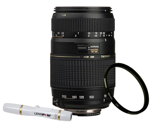 Tamron AF-D 70-300mm f/4 0-5 6 Di LD Nikon FX + UV-Filter 62mm + Elite  Lenspen