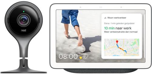 Google Nest Cam Indoor + Google Nest Hub Charcoal Main Image