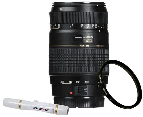 Tamron AF 70-300mm f/4.0-5.6 Di LD Canon EF + UV-Filter 62mm + Elite Lenspen Main Image