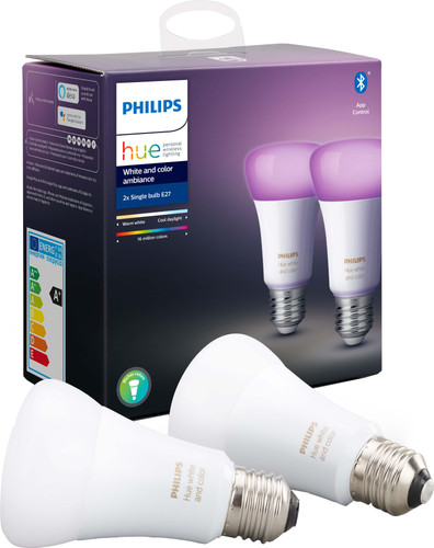 Philips Hue White and Color E27 Duopack Bluetooth Main Image