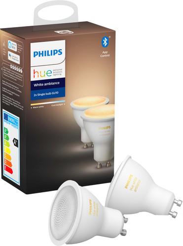 Philips Hue White Ambiance GU10 Bluetooth Duo Pack Main Image