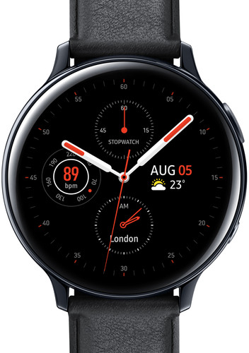 Samsung Galaxy Watch Active2 Zwart 44 mm RVS Main Image