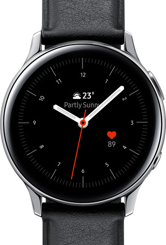 Samsung Galaxy Watch Active2 Silver / Black 40mm Stainless Steel Main Image