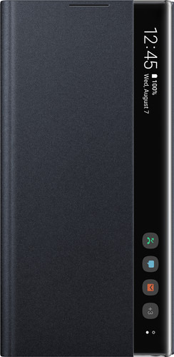 Samsung Galaxy Note 10 Plus Clear View Cover Book Case Black Main Image