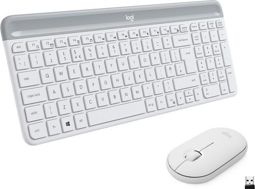 Logitech MK470 Slim Draadloos Toetsenbord en Muis Wit QWERTY Main Image