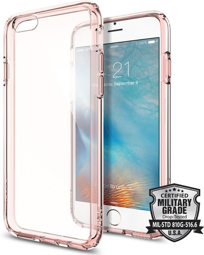 Spigen Ultra Hybrid Apple iPhone 6/6s Rosé goud/Transparant Main Image