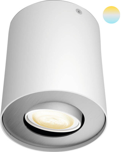 Philips Hue Pillar Mounted Spot White Ambiance 1 Light White Main Image
