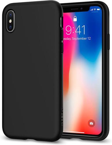 Spigen Liquid Crystal Apple iPhone X Back Cover Black Main Image